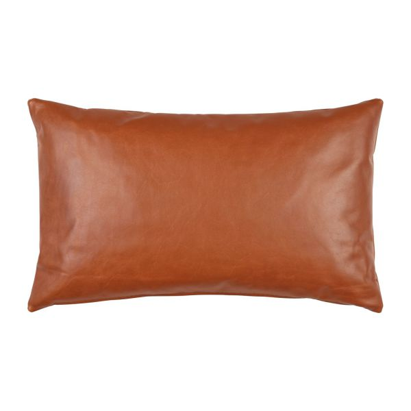 Cushion 30x50 made of aniline leather, brown n°1