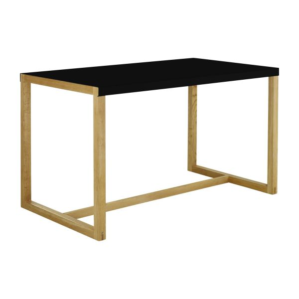 Rectangular dining table, black n°1