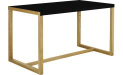 Rectangular dining table, black