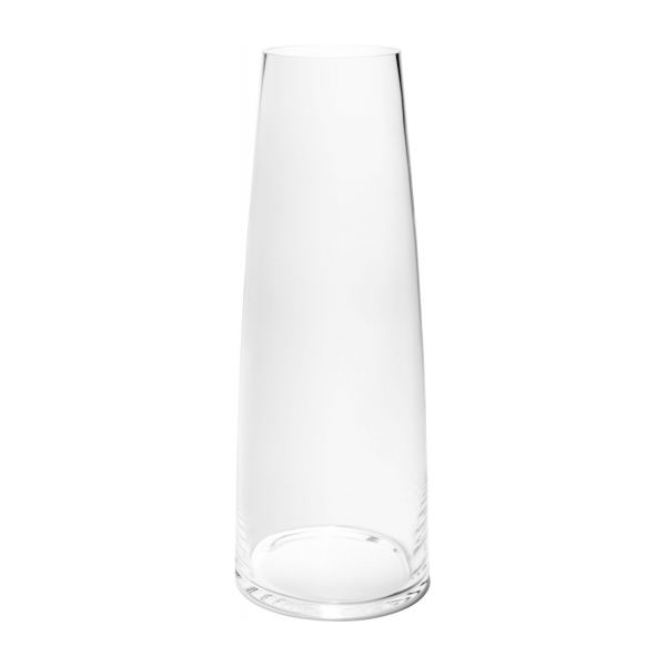 Column Vase 50cm Made Of Glass Transparent Habitat