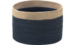 Basket made of jute 28cm, black