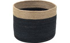 Basket made of jute 25cm, black