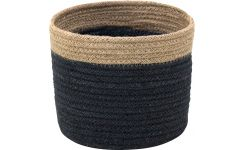 Basket made of jute 16cm, black