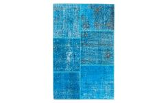 Carpet made of wool 90x140, turquoise