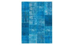 Carpet made of wool 160x220, turquoise