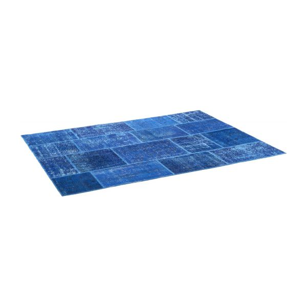 burling tapis en laine 170x240 bleu fonc habitat. Black Bedroom Furniture Sets. Home Design Ideas