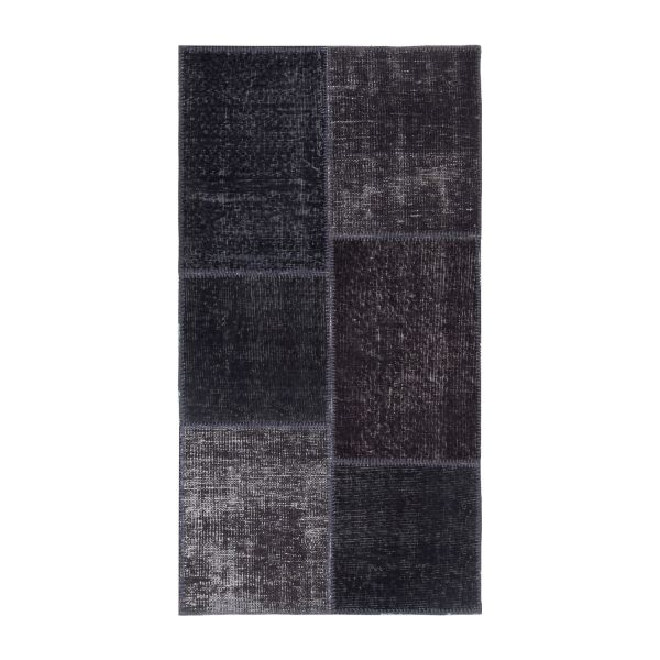 burling tapis en laine 80x150 noir habitat. Black Bedroom Furniture Sets. Home Design Ideas