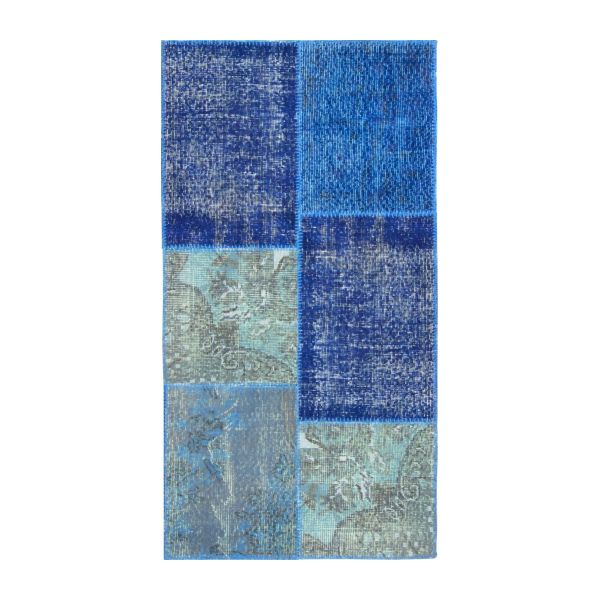 Carpet made of wool 80x150, shades of blue