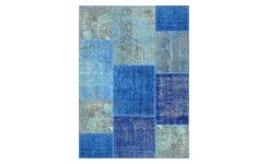 Carpet made of wool 130x180, shades of blue