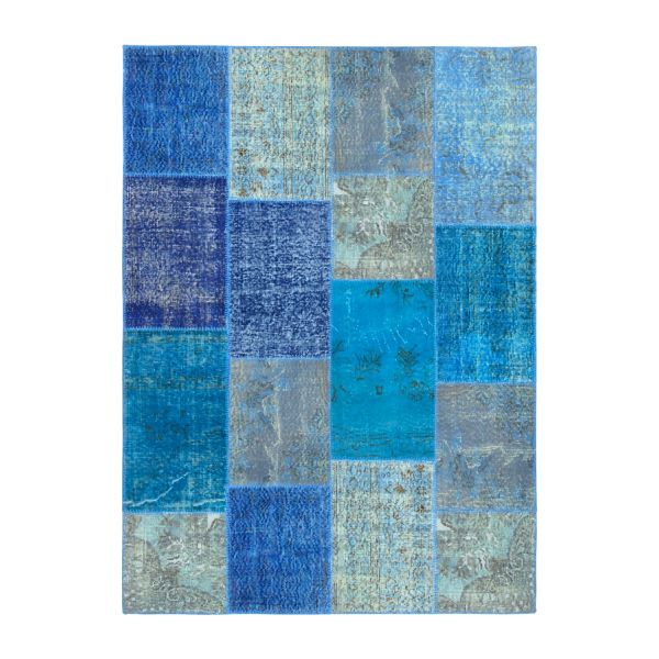 Carpet made of wool 160x220, shades of blue