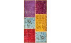 Carpet made of wool 80x150, multicolor