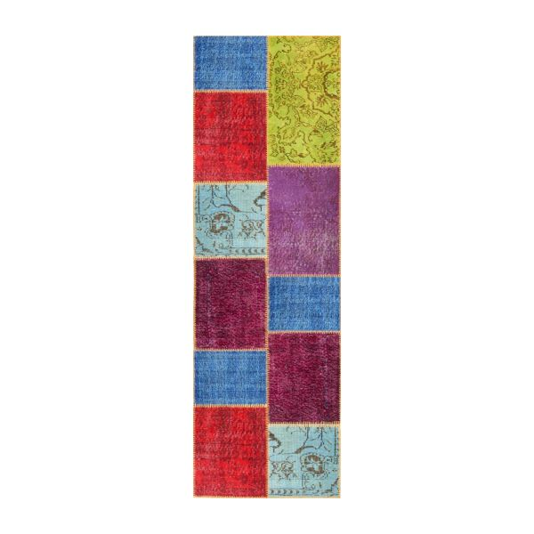 Carpet made of wool 80x250, multicolor