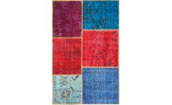 Carpet made of wool 90x140, multicolor
