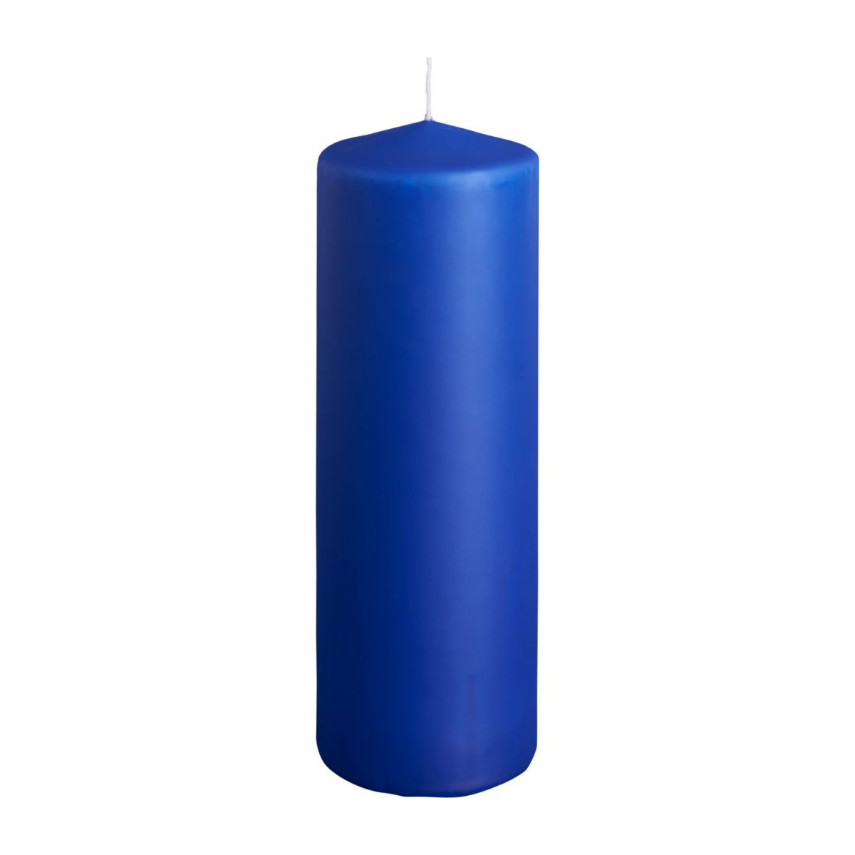 Cylindrical candle 19cm, blue n°1