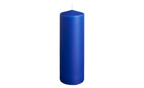 Bougie cylindre 19cm bleue