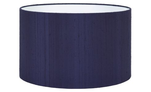 Lampshade made of silk 40x24cm, blue