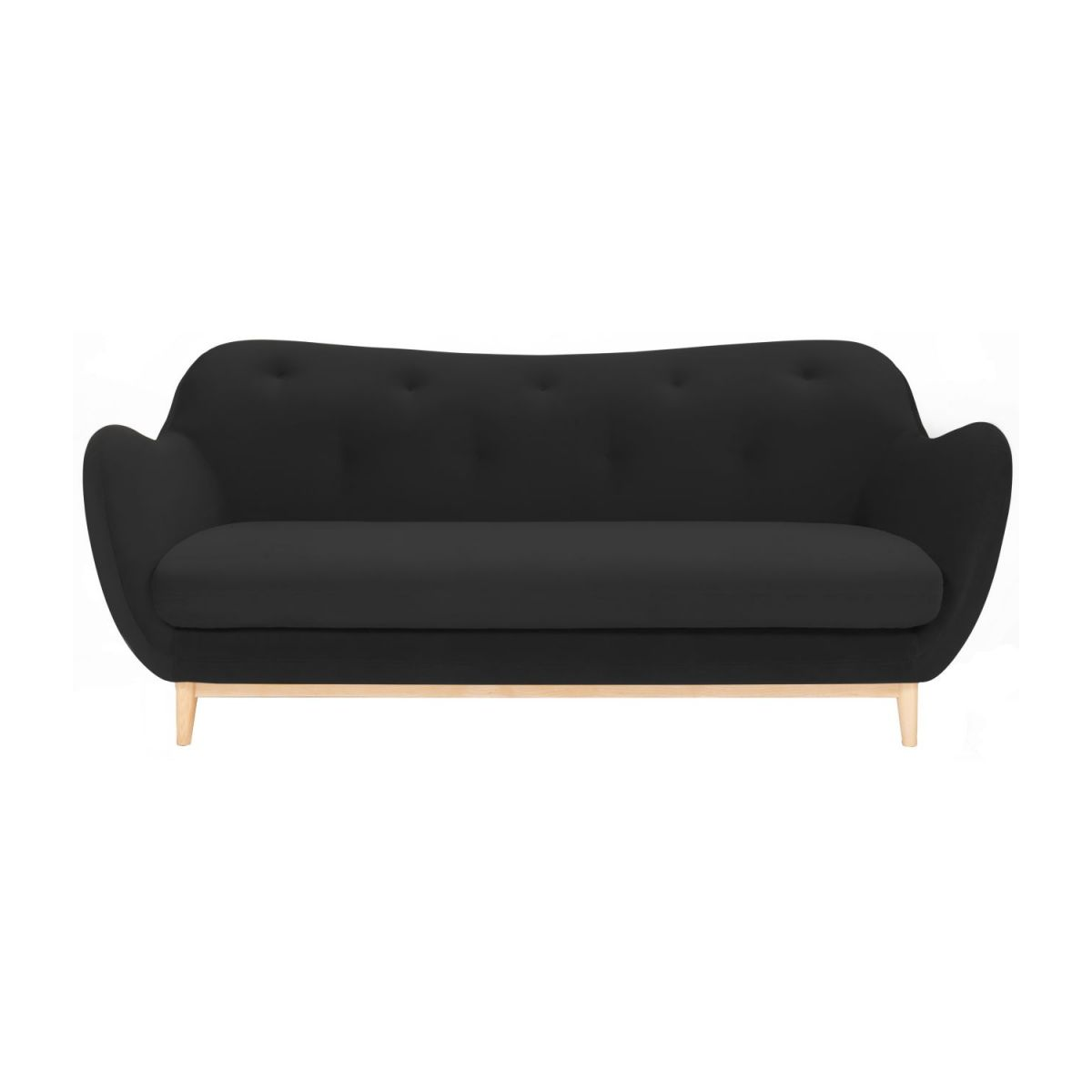 3-seat sofa made of velvet, gray n°2