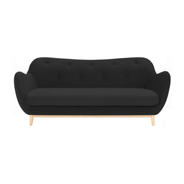 melchior 3 sitzer sofa aus samt grau design by adrien carv s habitat. Black Bedroom Furniture Sets. Home Design Ideas