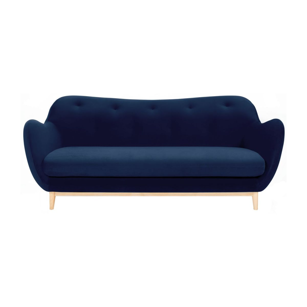 3-seat sofa made of velvet, blue n°3
