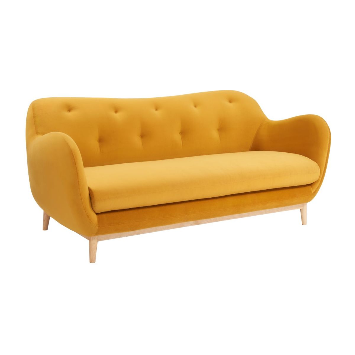2-seat sofa made of velvet moutarde  n°1