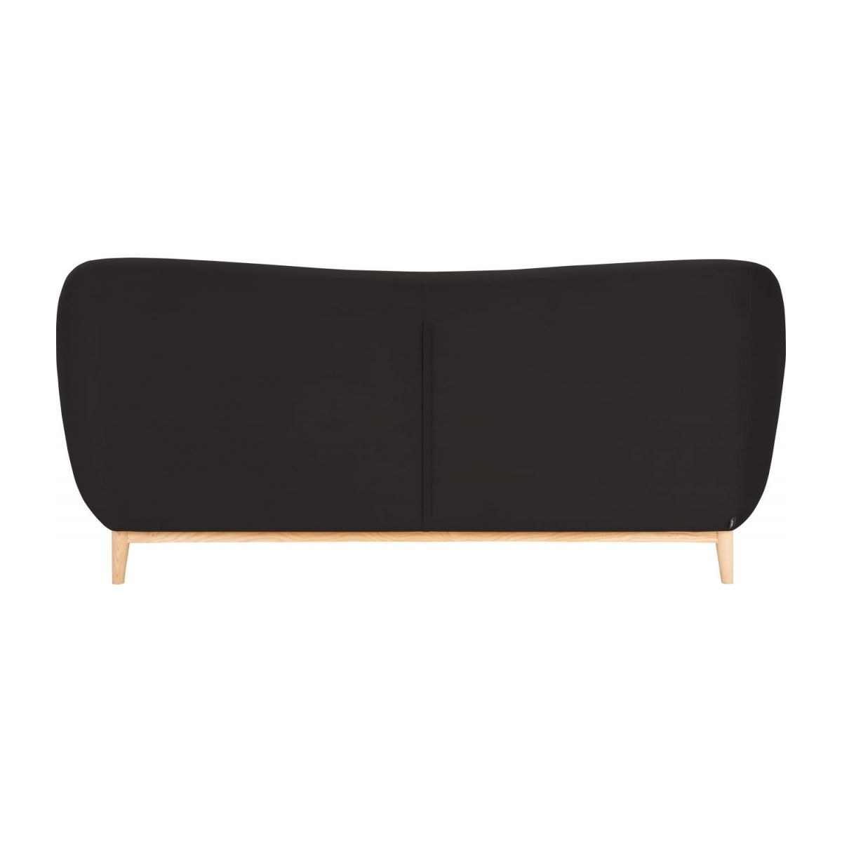 2-seat sofa made of velvet, grey n°4