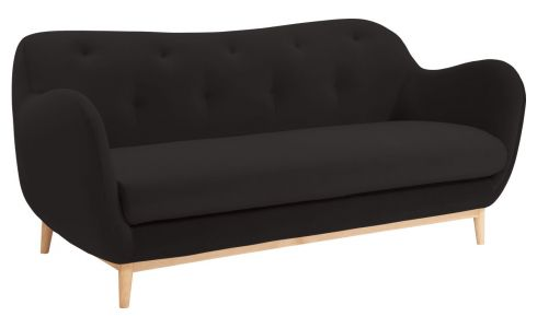 2-seat sofa made of velvet, grey