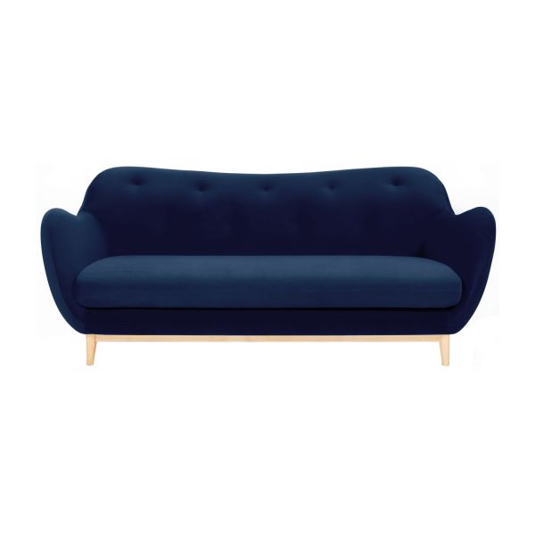 melchior canap 2 places en velours bleu design by adrien carv s habitat. Black Bedroom Furniture Sets. Home Design Ideas