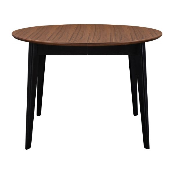 Moder table en noyer et noire habitat for Meuble table ronde extensible