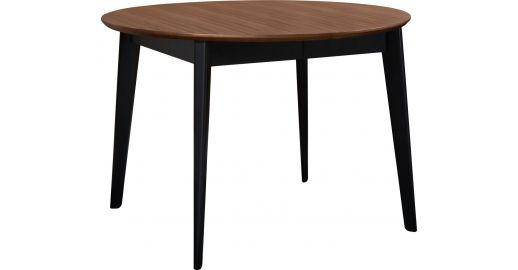 Moder extensible round table made of walnut habitat for Table extensible 270