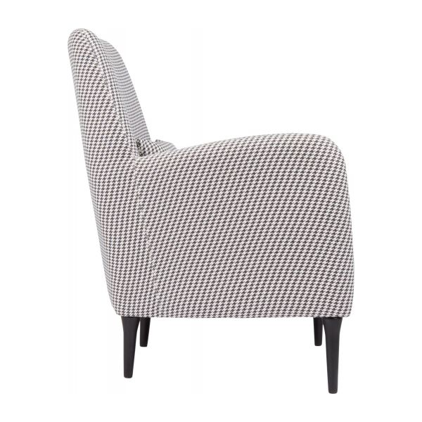 Fabric armchair, Houndstooth pattern n°4
