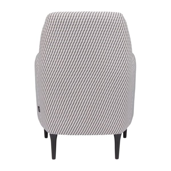 Fabric armchair, Houndstooth pattern n°3