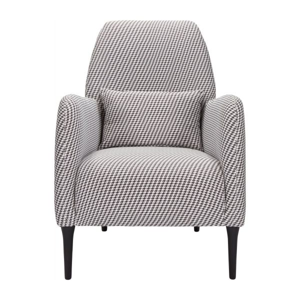 Fabric armchair, Houndstooth pattern n°2