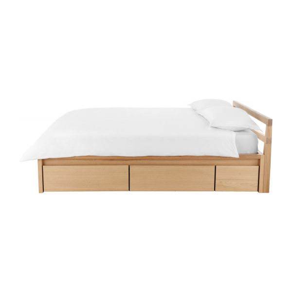 Adams II - Oak bed 140x200cm - Habitat