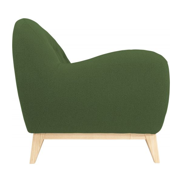 2 seater sofa made of fabric, green n°5