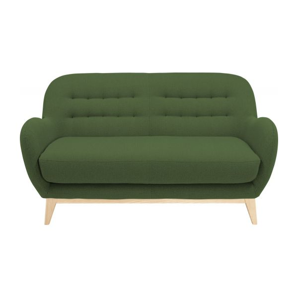 2 seater sofa made of fabric, green n°3