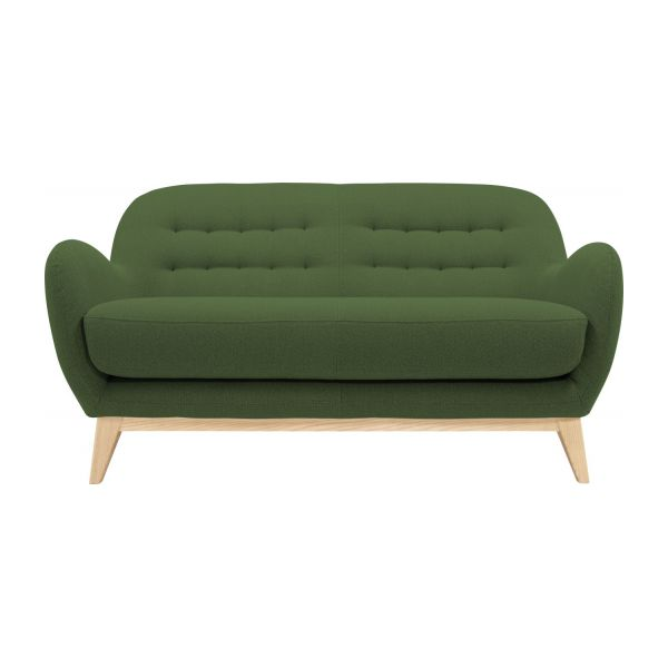 2 seater sofa made of fabric, green n°2