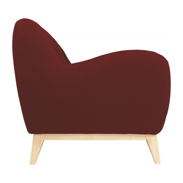 2 seater sofa made of fabric, red n°5