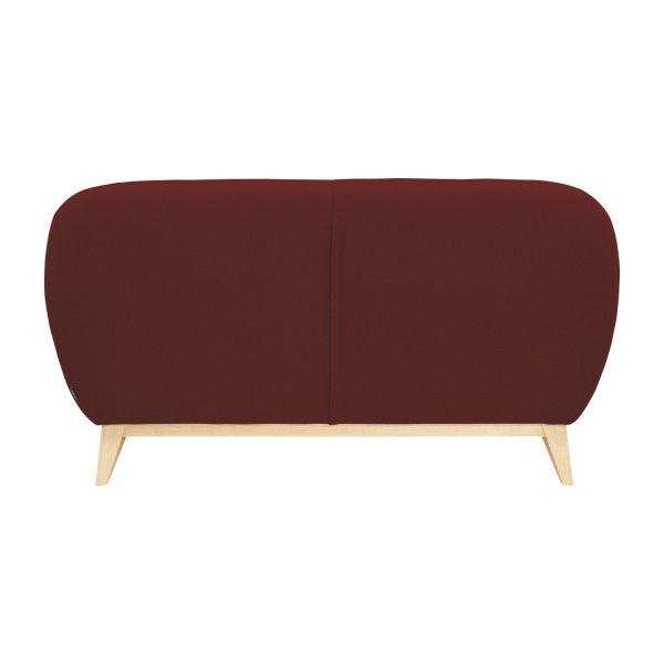 2 seater sofa made of fabric, red n°4