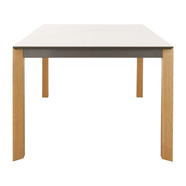 Icon tables de salle manger blanc c ramique habitat for Table salle a manger grande dimension