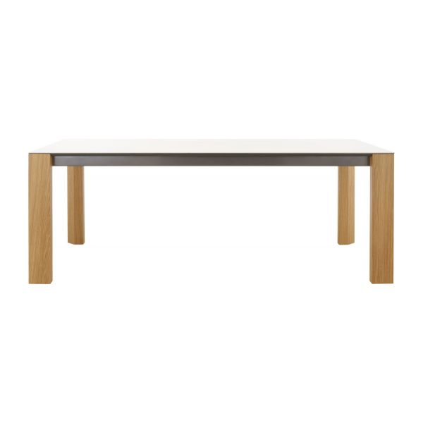 Icon tables de salle manger blanc c ramique habitat for Grande table salle a manger 2