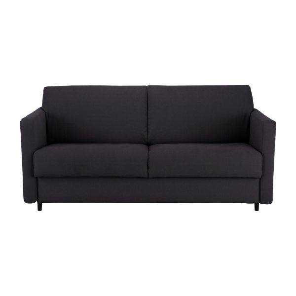 howi canap s canap 2 places convertible anthracite tissu. Black Bedroom Furniture Sets. Home Design Ideas