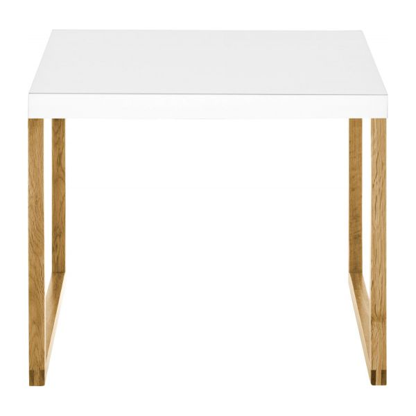 Accent table made of metal and solid oak n°3