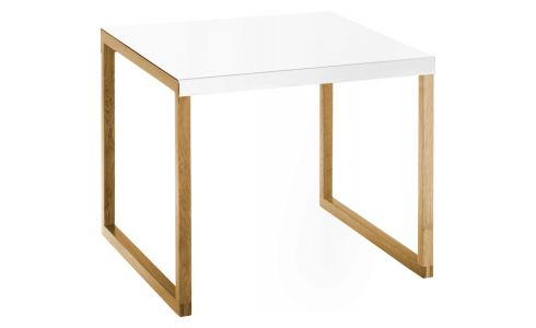 Accent table made of metal and solid oak