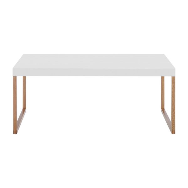 kilo tables basses blanc bois m tal habitat. Black Bedroom Furniture Sets. Home Design Ideas