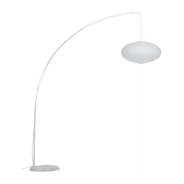 Japonica standard lamp white wax habitat paper floor lamp n4 mozeypictures Image collections