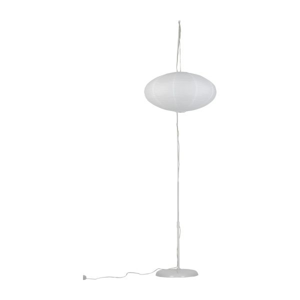 Japonica standard lamp white wax habitat for Paper floor lamp b q