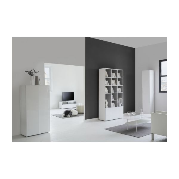 kubrik meubles composer noir bois laqu habitat. Black Bedroom Furniture Sets. Home Design Ideas