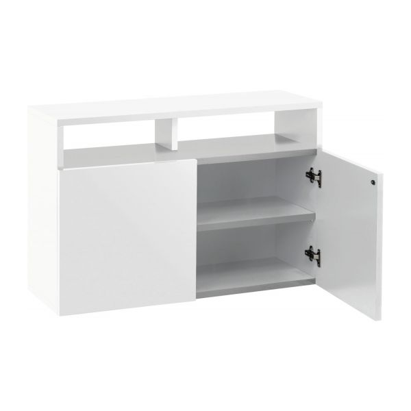 Kubrik buffets blanc bois laqu habitat for Petit buffet salon