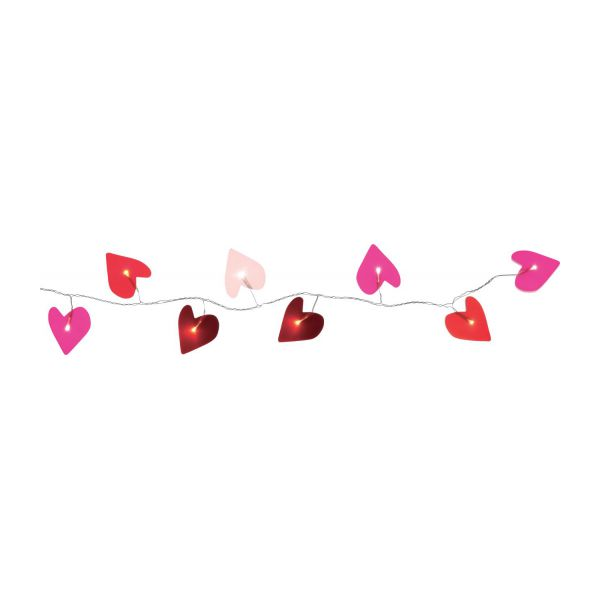 HEART Garlands Pink Acrylic Plastic