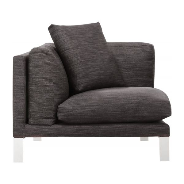 Newman Canap S Chauffeuse D 39 Angle Anthracite Tissu Habitat